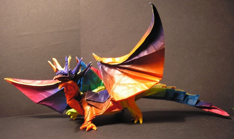 Origami Dragon Book Images Instructions Easy For Kids